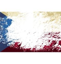 czech flag grunge background vector image