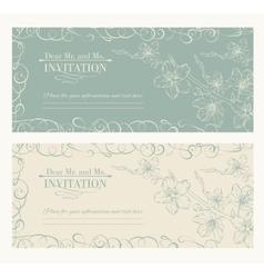 Decorative card with sakura vector