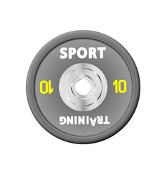 Dense grey weight plates numbered weights 10 vector
