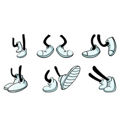 Different legs with shoe vector