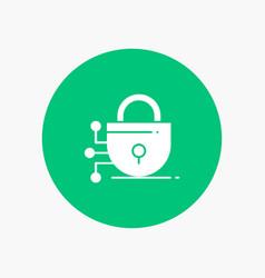 digital lock technology vector image
