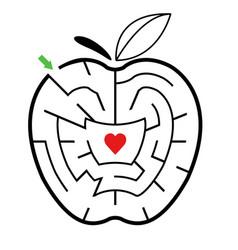 easy maze game for kids printable easy maze activ vector image