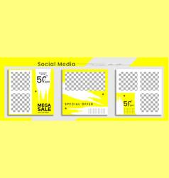 Editable social media post templates facebook vector