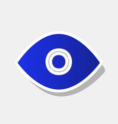 eye sign new year bluish vector image