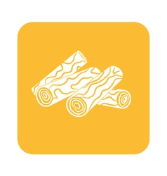 Firewood icon vector
