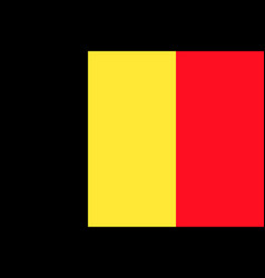 flag of belgium flag vector image