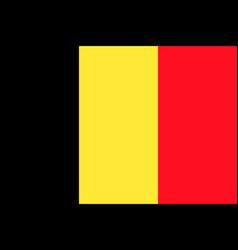 Flag of belgium flag vector