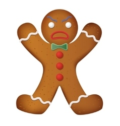 Gingerbread man decorated Funny and angry vector