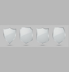 glass shield defense sign privacy protection vector image