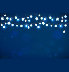 glowing lights garland glowing lights garland vector image