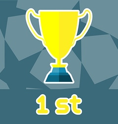 Golden Cup Soccer Reward vector image vector image