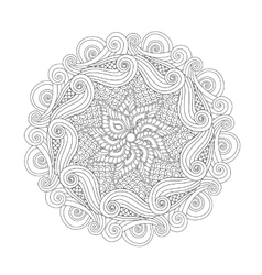 Graphic Abstract Mandala Zentangle inspired style vector