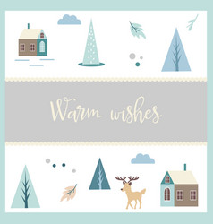 greeting postcard in scandinavian vector image