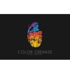 Grenade logo Color grenade logo Creative logo vector image