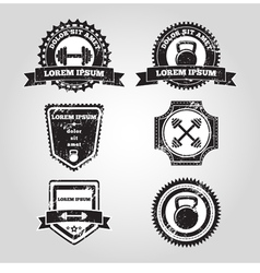 Gym emblems vector image