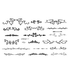 hand drawn decorative dividers vector image