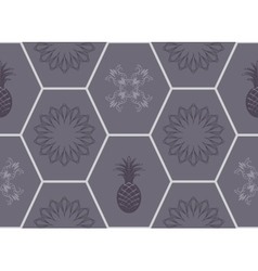 Honeycomb floor tile seamless pattern vector