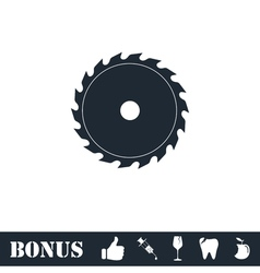 Industrial saw icon flat vector image