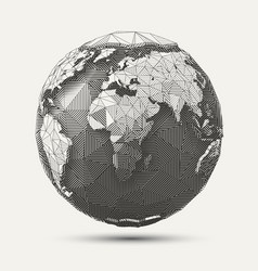 Line poly earth vector
