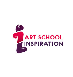 Logo for art school vector