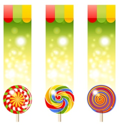 lollipops banners vector image