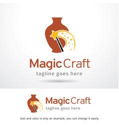Magic craft logo template vector