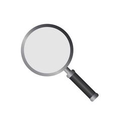 Magnifying glass logo icon design template vector