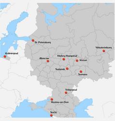 Map of european russia vector