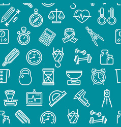 measurement signs seamless pattern background on a vector image