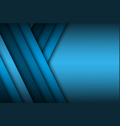 modern blue background overlap paper with blank vector image