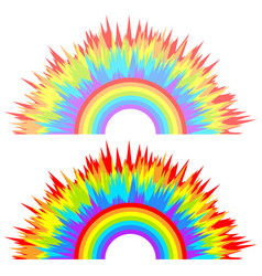 multi-color abstract children rainbow vector image