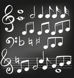 music note icon hand drawn vector image