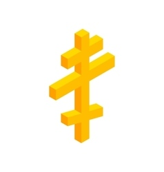 Orthodox cross isometric 3d icon vector image