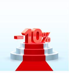 Podium with percentage vector