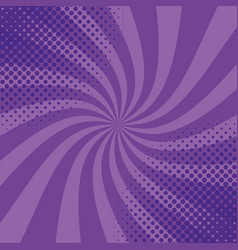 Pop art purple striped background vector