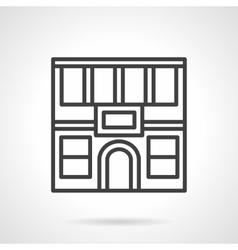 Restaurant facade simple line icon vector image