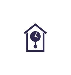 retro wall watch icon vector image