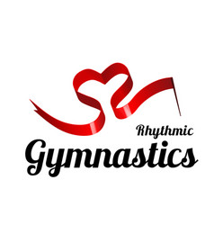 ribbon for rhythmic gymnastics in the shape of a vector image