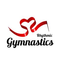 Ribbon for rhythmic gymnastics in the shape of a vector