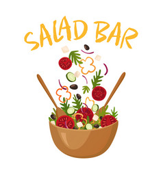 Salad bar vector
