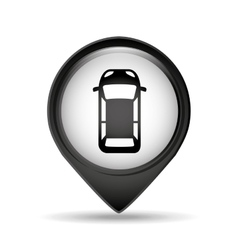 Sign car parking vehicle icon vector