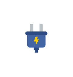 smart energy icon flat element vector image