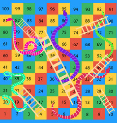 Snakes-and-ladders-game vector