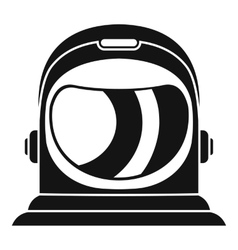 Space helmet icon simple style vector