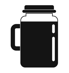 spinach jar icon simple style vector image