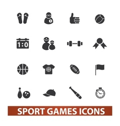 sport games icons set vector image