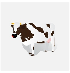 spotted cow isolated vector image