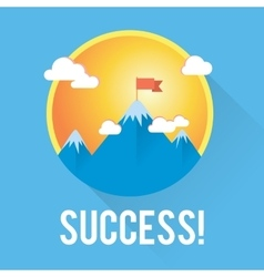 Success and win concept Flag on the vector