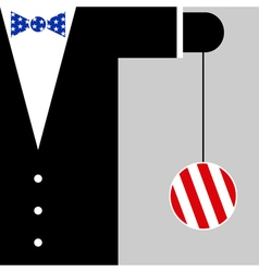 Suit with the symbols of usa flag vector