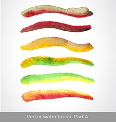 watercolor set stroke vector image